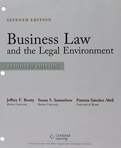9781305717091: Bundle: Business Law and the Legal Environment, Standard Edition, Loose-leaf Version, 7th + MindTap Business Law, 1 term (6 months) Printed Access Card