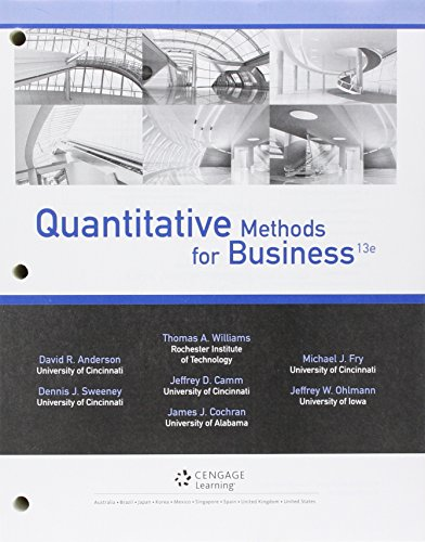 9781305717251: Bundle: Quantitative Methods for Business, 13th + CengageNOW, 2 term (12 months) Printed Access Card