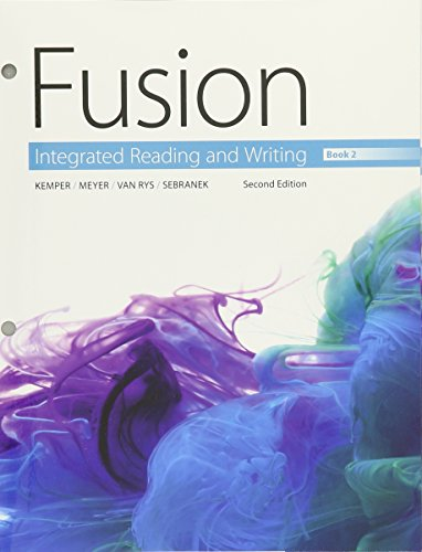 9781305717725: Bundle: Fusion: Integrated Reading and Writing, Book 2, Loose-leaf Version, 2nd + MindTap Developmental English, 1 term (6 months) Printed Access Card