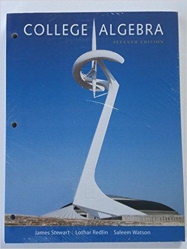 9781305718944: Bundle: College Algebra, 7th + WebAssign Printed Access Card for Stewart/Redlin/Watson's College Algebra, 7th Edition, Single-Term