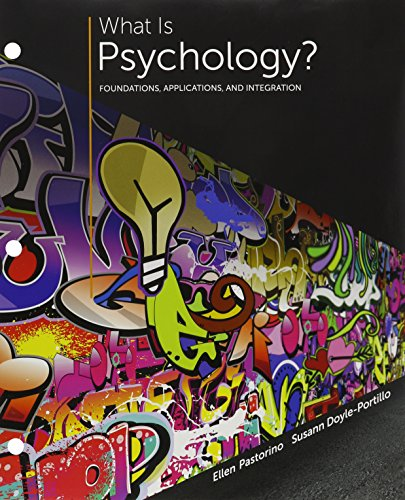 9781305719125: Bundle: What is Psychology?: Foundations, Applications, and Integration, Loose-Leaf Version, 3rd + MindTap Psychology, 1 term (6 months) Printed Access Card