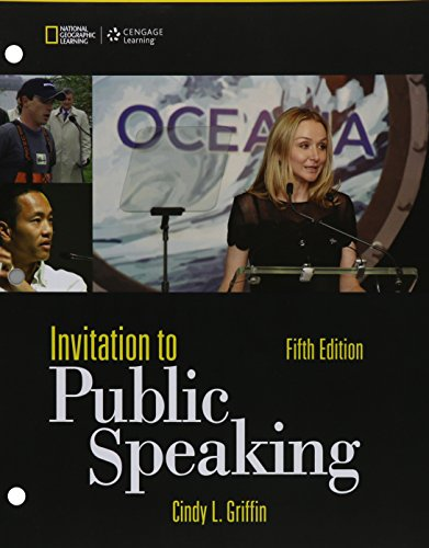 9781305719361: Bundle: Invitation to Public Speaking - National Geographic Edition, Loose-leaf Version, 5th + MindTap Speech, 1 term (6 months) Printed Access Card