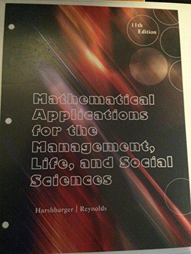 Mathematical Applications for the Management, Life and Social Sciences: Harshbarger
