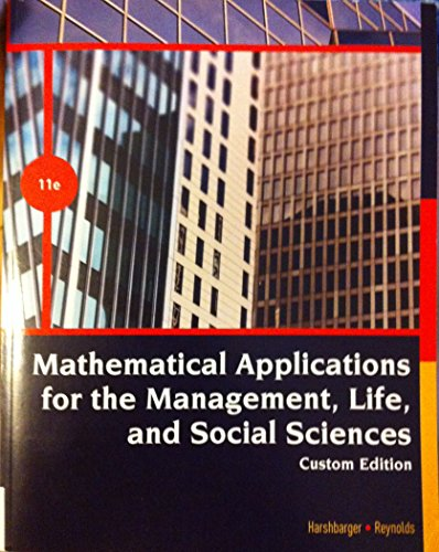 9781305745247: Mathematical Applications for the Management, Life, and Social Sciences 11th Edition (UTA custom Edition)
