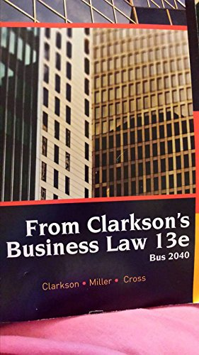 9781305751651: Business Law Ii Special Edition Oakland Community College