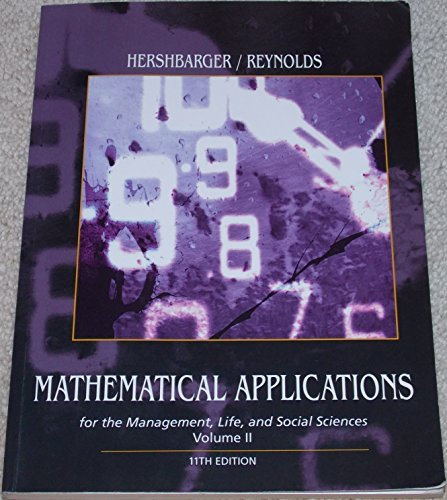 9781305751767: Mathematical Applications for the Management, Life, and Social Sciences Volume 2