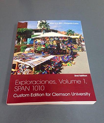 9781305752887: Exploraciones, Volume 1