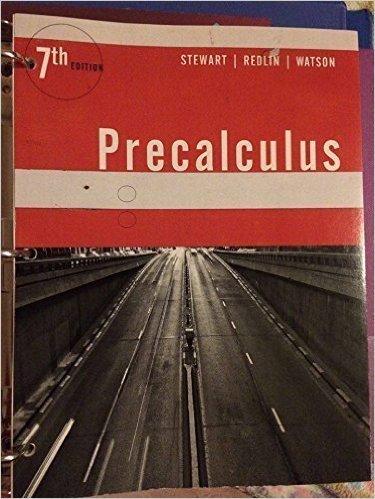 9781305752894 Precalculus Mathematics For Calculus 7th Edition