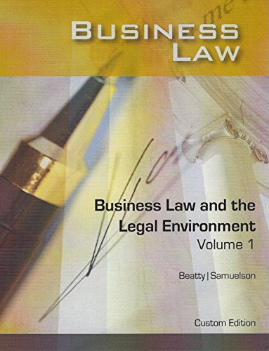 9781305753624: Business Law and the Legal Environment, Volume 1