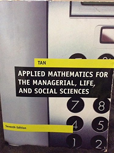 9781305755710: Applied Mathematics for the Managerial, Life