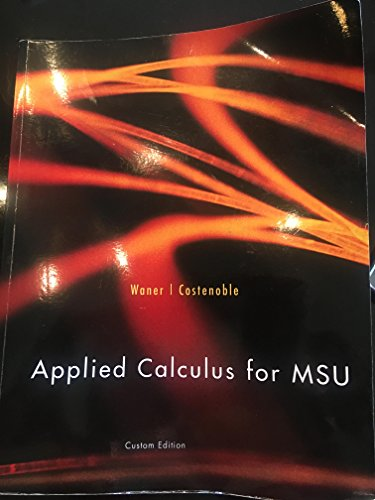 9781305760158: Applied Calculus for MSU