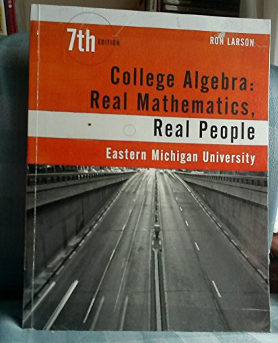 9781305761629: College Algebra: Real Mathematics, Real People, 7th edition, Eastern Michigan University