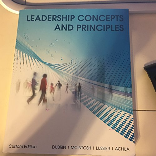 9781305772717: leadership concepts and principles