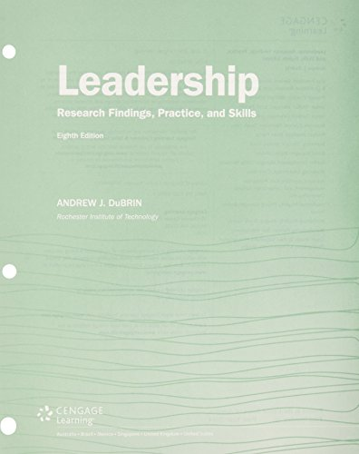 9781305778498: Bundle: Leadership: Research Findings, Practice, and Skills, Loose-Leaf Version, 8th + LMS Integrated for MindTap Management, 1 term (6 months) Printed Access Card
