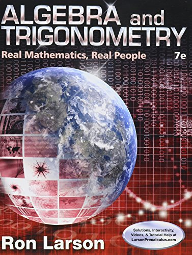 9781305778894: Bundle: Algebra and Trigonometry: Real Mathematics, Real People, 7th + WebAssign Printed Access Card for Larson's Algebra and Trigonometry: Real Mathematics, Real People, 7th Edition, Single-Term