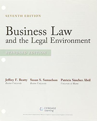 9781305779440: Bundle: Business Law and the Legal Environment, Standard Edition, 7th + LMS Integrated for MindTap Business Law, 2 terms (12 months) Printed Access Card