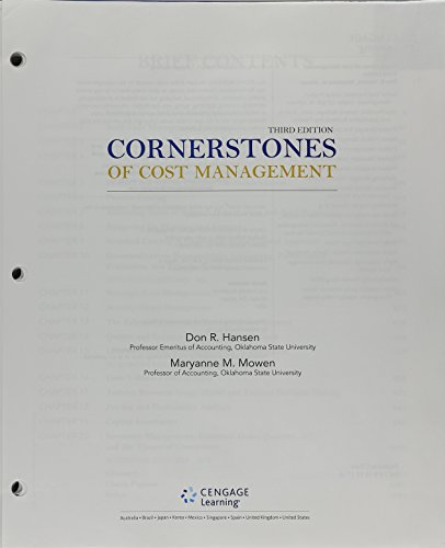 9781305780194: Bundle: Cornerstones of Cost Management, Loose-leaf Version, 3rd + CengageNOW™, 2 terms (12 months) Printed Access Card