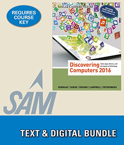 9781305782396: Bundle: Discovering Computers ©2016 + LMS Integrated for SAM 2013 Assessment, Training, and Projects with MindTap Reader, 1 term Printed Access Card + ... Trial, 1 term (6 months) Printed Access Card