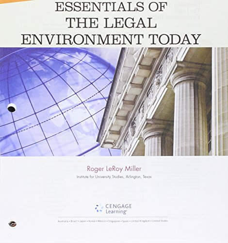 9781305785908: Bundle: Cengage Advantage Books: Essentials of the Legal Environment Today, Loose=leaf Version, 5th + LMS Integrated for MindTap Business Law, 1 term (6 months) Printed Access Card