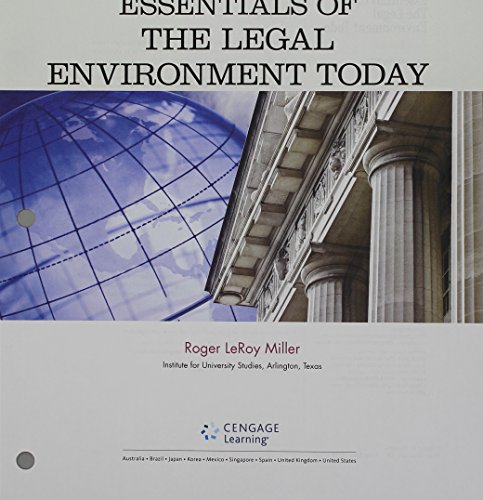 9781305785915: Bundle: Cengage Advantage Books: Essentials of the Legal Environment Today, Loose-leaf Version, 5th + MindTap Business Law, 1 term (6 months) Printed Access Card