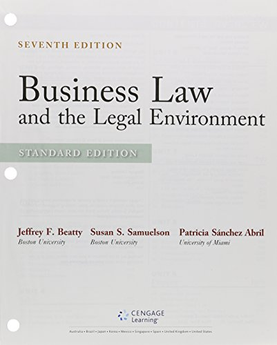 9781305787117: Bundle: Business Law and the Legal Environment, Standard Edition, Loose-leaf Version, 7th + LMS Integrated for MindTap Business Law, 1 term (6 months) Printed Access Card