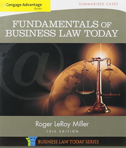 9781305787896: Bundle: Cengage Advantage Books: Fundamentals of Business Law Today: Summarized Cases, 10th + MindTap Business Law, 1 term (6 months) Access Code