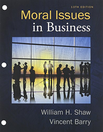 9781305790018: Bundle: Moral Issues in Business, Loose-leaf Version, 13th + LMS Integrated for MindTap Philosophy, 1 term (6 months) Printed Access Card