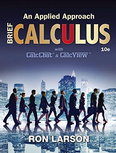 Calculus: An Applied Approach, Brief: Larson, Ron