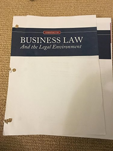 9781305862579: Essentials of Business Law and the Legal Environment, Loose-Leaf Version