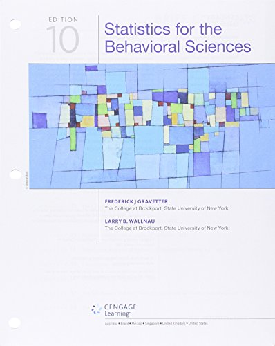 9781305862807: Statistics for the Behavioral Sciences, Loose-leaf Version