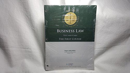 9781305863934: Cengage Advantage Books: Business Law: Text and Cases - The First Course, Loose-Leaf Version
