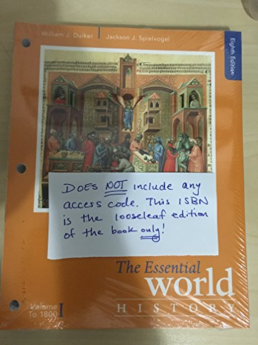 9781305865693: The Essential World History, Volume I: To 1800, Loose-leaf Version