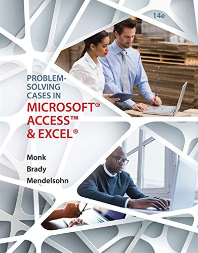 9781305868625: Problem Solving Cases In Microsoft Access and Excel