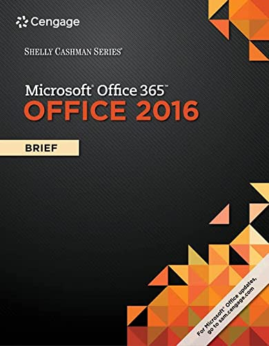 9781305870055: Shelly Cashman Series Microsoft Office 365 & Office 2016: Brief