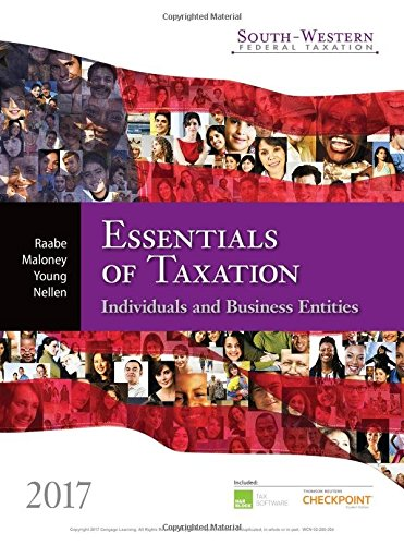 9781305874824: South-western Federal Taxation 2017: Essentials of Taxation: Individuals and Business Entities