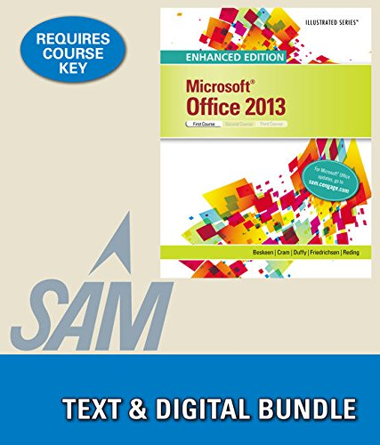 9781305925403: Bundle: Enhanced Microsoft Office 2013: Illustrated Introductory, First Course + LMS Integrated for SAM 2013 Assessment, Training and Projects with MindTap Reader, 1 term Printed Access Card
