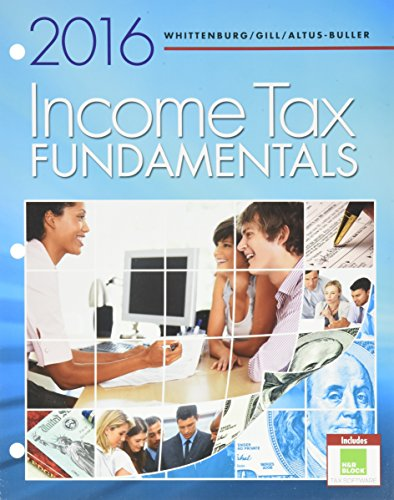 9781305930162: Bundle: Income Tax Fundamentals 2016, Loose-Leaf Version, 34th + H&R Block Premium & Business Software + LMS Integrated for CengageNOWv2™, 2 terms Printed Access Card