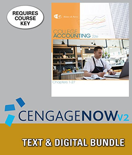 Bundle: College Accounting, Chapters 1-27, Loose-Leaf Version, 22nd + LMS Integrated for ...