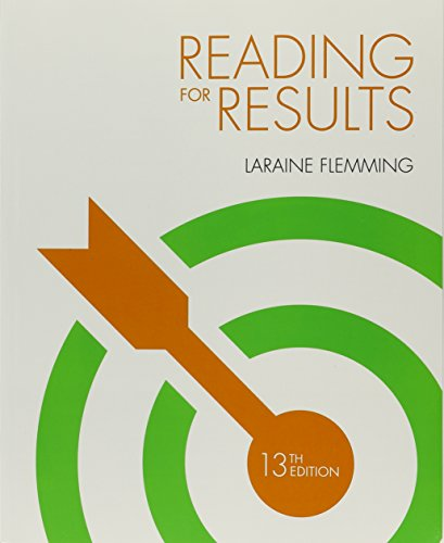 Bundle: Reading for Results, 13th + Aplia, 1 terms (6 months) Printed Access Card: Flemming, ...