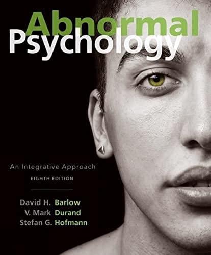 9781305950443: Abnormal Psychology: An Integrative Approach