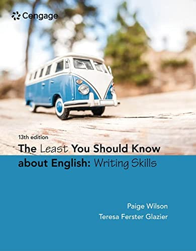 9781305960947: The Least You Should Know About English: Writing Skills