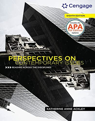 Perspectives on Contemporary Issues: Ackley, Katherine Anne