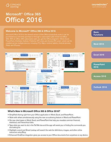 Microsoft Office 365 & Office 2016 CourseNotes: Technology, Course