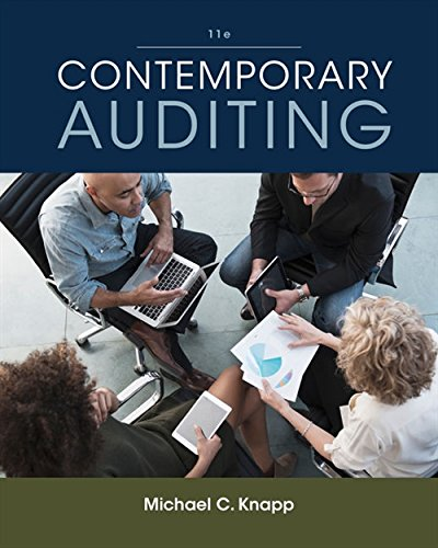contemporary auditing by knapp Solution manual for contemporary auditing 10th edition by knapp.