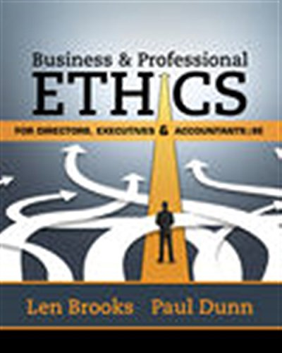 9781305971455: Business & Professional Ethics for Directors, Executives & Accountants