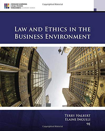 9781305972490: Law and Ethics in the Business Environment (MindTap Course List)