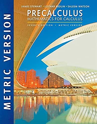 9781305999985: Precalculus: Mathematics for Calculus, International Metric Edition