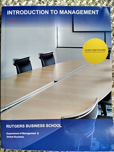 9781308052809: Introduction to Business Rutgers Business School Department of Management & Global Business