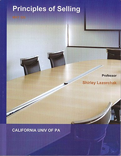 9781308058122: Principles of Selling - MKT 320 (Custom for Cal-U of PA)