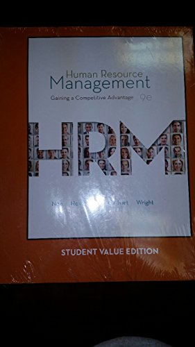 9781308090627: Human Resource Management: Gaining a Competitive Advantage (9e) [Custom for Kent State University]